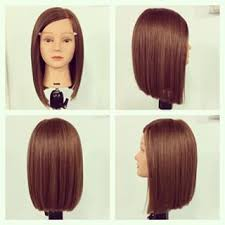 nice hairstyle for short medium hair with one hair band triangular one length frisuren pinterest hair style haircut