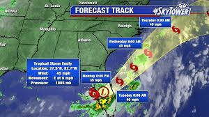 Frontal Boundary Map Tropical Storm Emily Makes Landfall On Anna Maria Island Wet