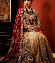 wedding wear dresses designer collection 2016 light golden bridal gown and