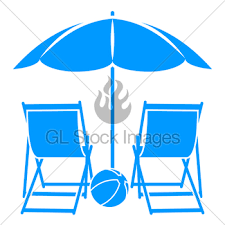 Beach Umbrella And Chairs Beach Umbrella And Deck Chair Gl Stock Images