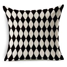 color combination with black thick texture pillow cushion for 1pc tx57 fashion trendy black and