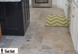 Herringbone Bathroom Floor by Silver Travertine Tile Herringbone Floor Tutorial Her Tool Belt