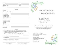 Wedding Bulletins Examples Wedding Bulletins Simple Cream Program With Decorative Bow