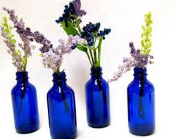 Blue Bottle Vase Cobalt Blue Bottle Etsy