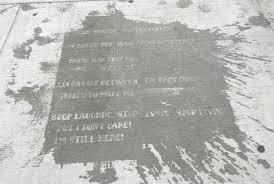 boston u0027s secret sidewalk poetry only appears after it rains
