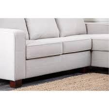 Abbyson Sectional Sofa Abbyson Living Rl 1321 Gry Grey Fabric Sectional Sofa