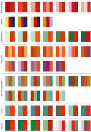 Color Combinations Design Combination Of Rich Colors Orange Red Yellow Green And Blue This