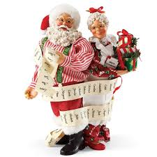 possible dreams santas santa and mrs claus with the list possible dreams figurine
