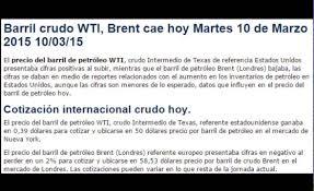 imagenes positivas para hoy martes precio barril de petróleo wti brent hoy martes 10 de marzo 2015 10
