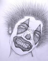 sketches for evil clown drawings sketches www sketchesxo com