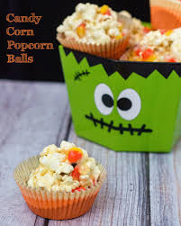 candy corn popcorn balls by the redhead baker