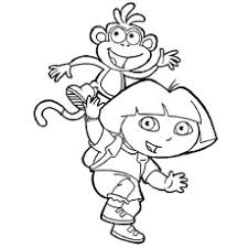 dora coloring pages for toddlers dora coloring pages free printables momjunction