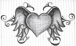 Hearts With Wings - with wings sketch tattoos book 65 000 tattoos designs