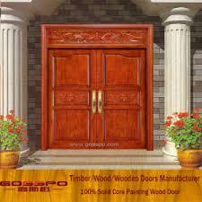 Exterior Wood Door Manufacturers China Solid Wood Carving Exterior Wood Door Entrance Door