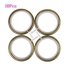 Gold Curtain Rings 10pcs Metal Curtain Rings For Plose 35mm Bronze In Curtains