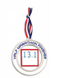 half marathon runner personalized ornament