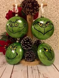ornaments set grinch baubles set of 4 tree