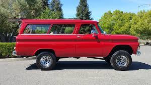 chevrolet suburban red 1966 chevrolet suburban f64 houston 2016