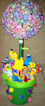 Elmo Centerpieces Ideas by Sesame Street Lollipop Topiary Tree For Birthday Party Gift
