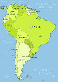 Map Of South Map Of South America Political Division Countries And Capital