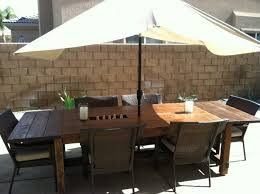 folding patio table with umbrella hole patio dining sets on sale plastic outdoor table with umbrella hole