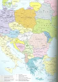 Eastern Europe Political Map by History 464 Europe Since 1914 Unlv