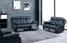 canape trevise canape cuir 3 places relax salon 32 1405 noir 4 inclus 2 trevise