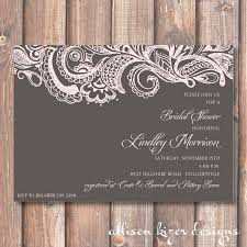 mehndi card wording mehndi printable bridal shower invitation charcoal gray pale