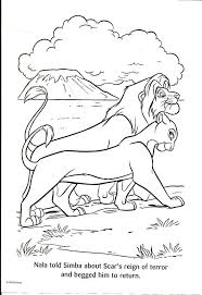 film scar coloring simba lion king scar lion king lion