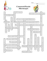 microscope crossword puzzle by amy brown science tpt
