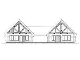duplex house plans log cabin style multi family home plan 012m