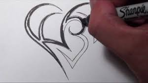 letters designs for tattoos creating a heart with initials tattoo design youtube
