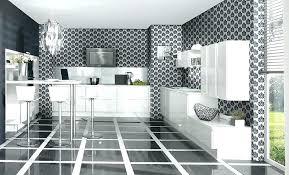 cuisine blanche et noir modele cuisine blanche cuisine bois et blanc laque meuble laqu en