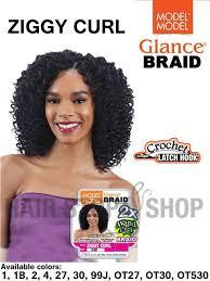 model model crochet hair model model glance 2x wand curl ziggy curl crochet braid