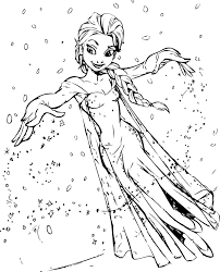 my elsa coloring page wecoloringpage
