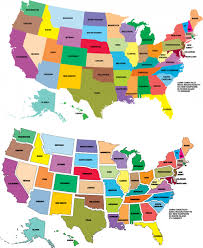 map usa with names usa map color with state names kidspressmagazine