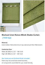 window blackout linen roman blinds shades curtain fold top chain