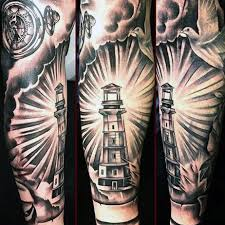 collection of 25 lighthouse tattoo