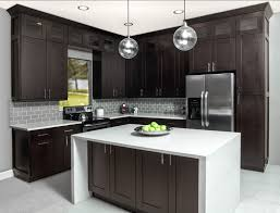 black shaker style kitchen cabinets chocolate shaker frameless kitchen cabinets