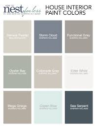 Sherwin Williams Interior Paint Colors by Paint Colors My House How To Nest For Less