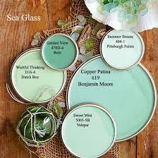 Sea Glass Door Knobs by Sea Glass Paint Colors Via Bhg Com Copper Patina Kitchen Color