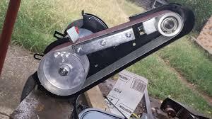 convert bench grinder to belt sander home decorating interior