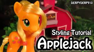 applejack hairstyles my little pony applejack hair styling tutorial mlp youtube