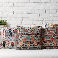 Sofa Pillow Cases Nordic Bohemian Home Decor Pillows Cases Red Sofa Pillows Home