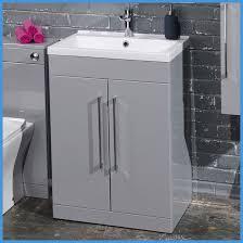 Grey Vanity Unit 500 U0026 600mm Square Minimalist Bathroom Modern Grey Vanity Unit