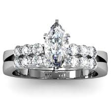 marquise cut wedding set marquise cut tapered engagement ring wedding set