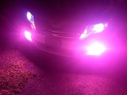 hids lights near me pink hid lights installed in head lights and in fog lights on a 2012