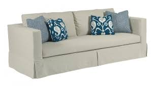Modern Sofa Slipcovers Modern Slipcover Sofa With Kick Pleat Skirt Contemporary Sofa