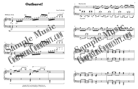 outburst music by lisa frederick sheet music piano pronto