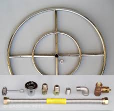 Firepit Burner 6 12 18 24 30 36 Stainless Steel Pit Burner Ring Kit
